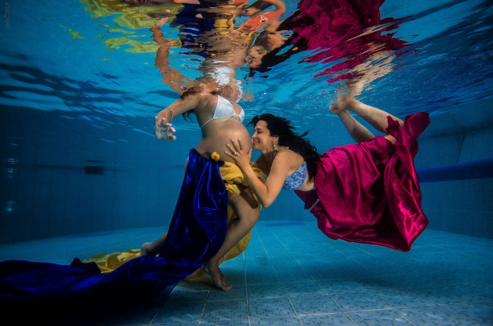 Underwater Maternity Sebi Messina Photography
